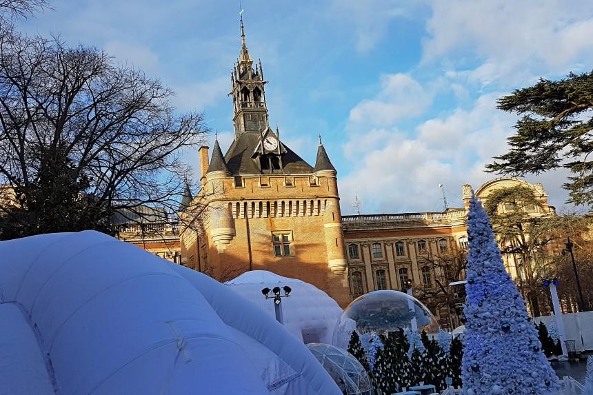 Plaza del General de Gaulle en Navidad