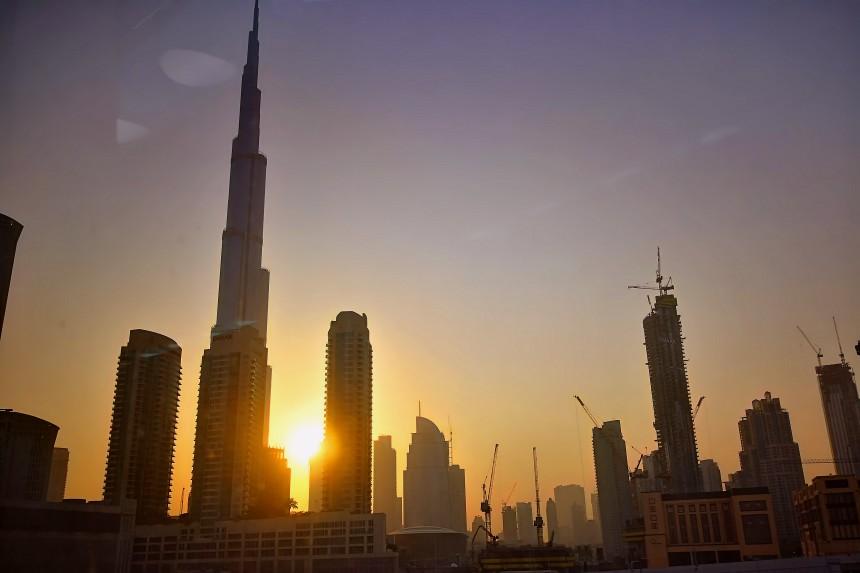 amanece en Dubai