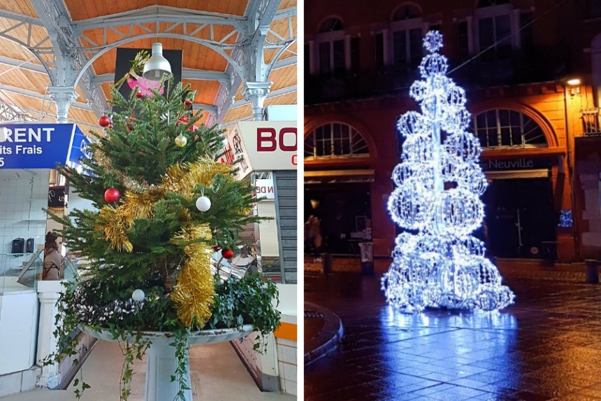 árboles de Navidad en Toulouse