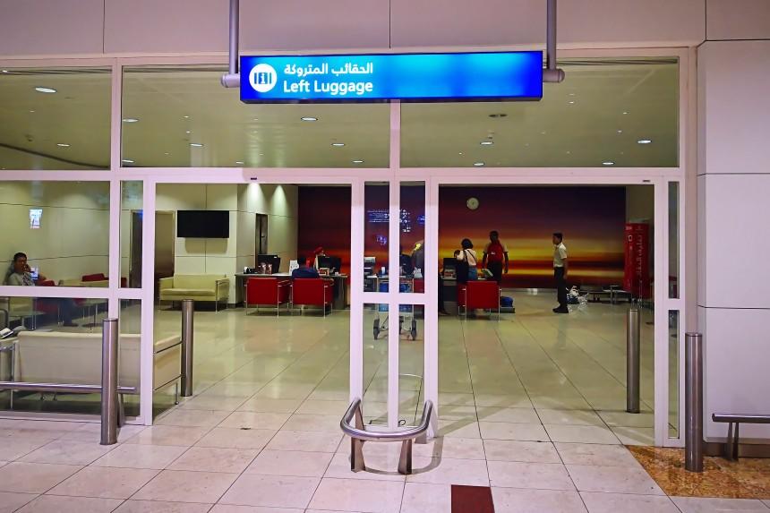 consigna del aeropuerto de Dubai