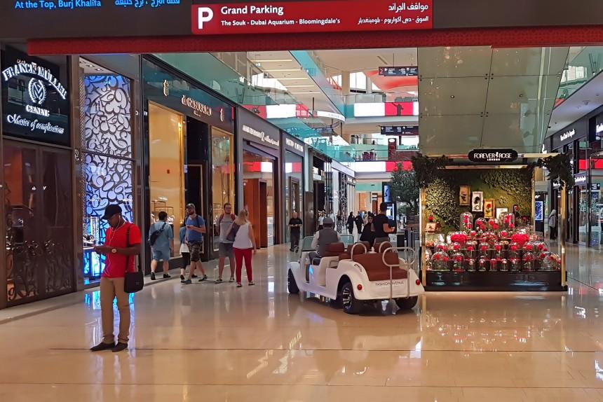 de compras en el Dubai Mall