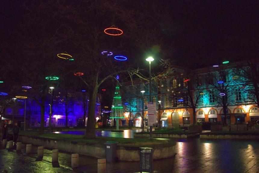 iluminacion navideña LED en Toulouse
