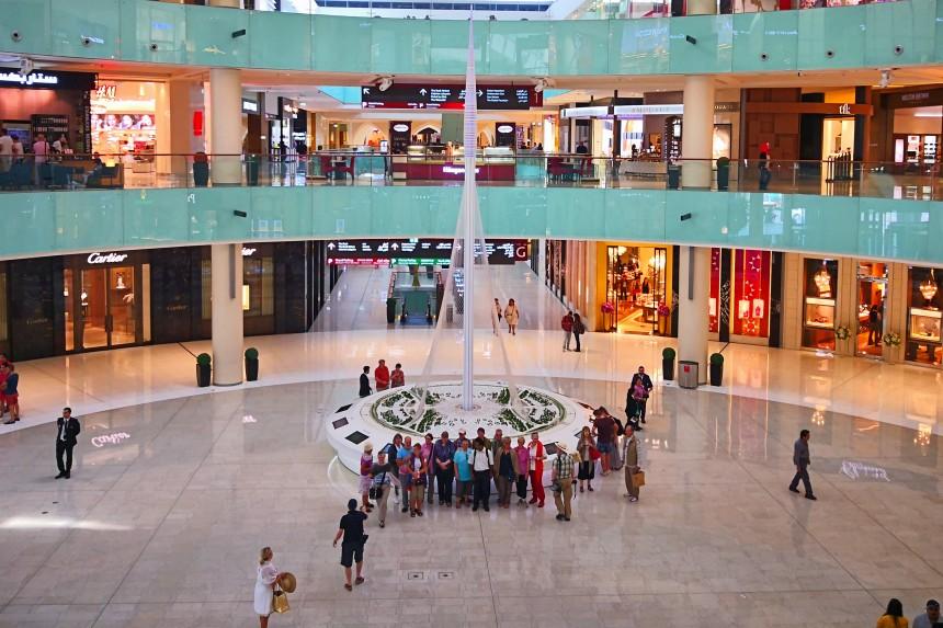 maqueta del Dubai Creek Harbour en el Dubai Mall