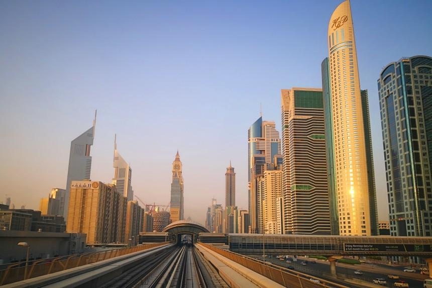 metro automático de Dubai