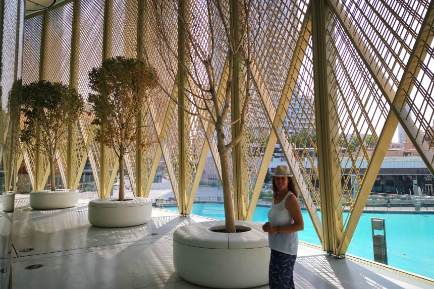 terraza de la tienda Apple en el Mall de Dubai