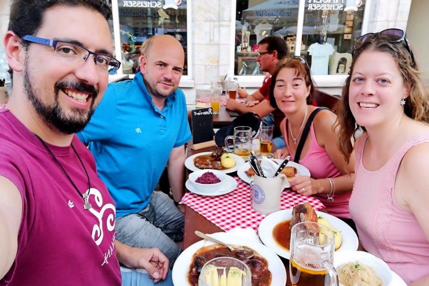bebiendo cerveza en Franconia