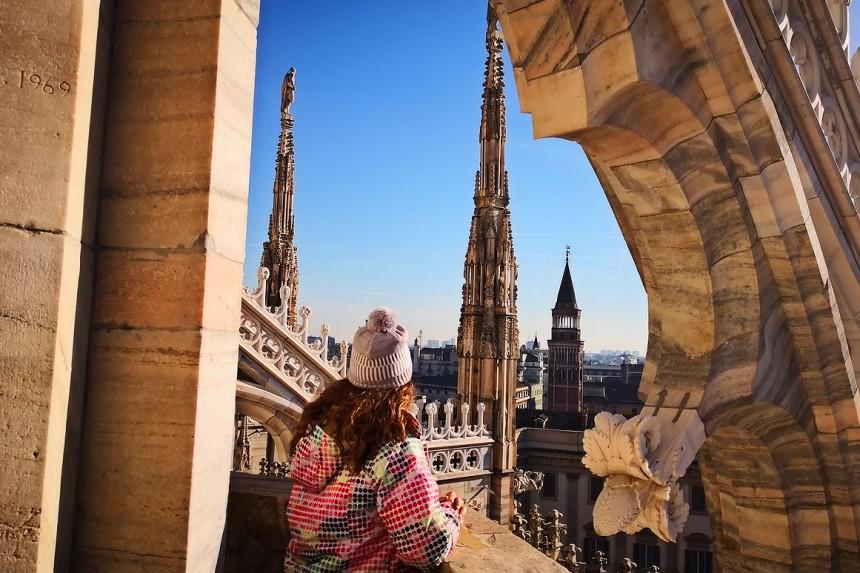Terraza del Duomo de Milán