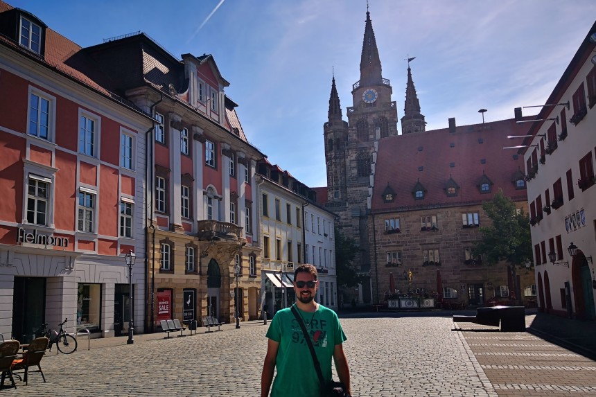Plaza de Martín Lutero en Ansbach