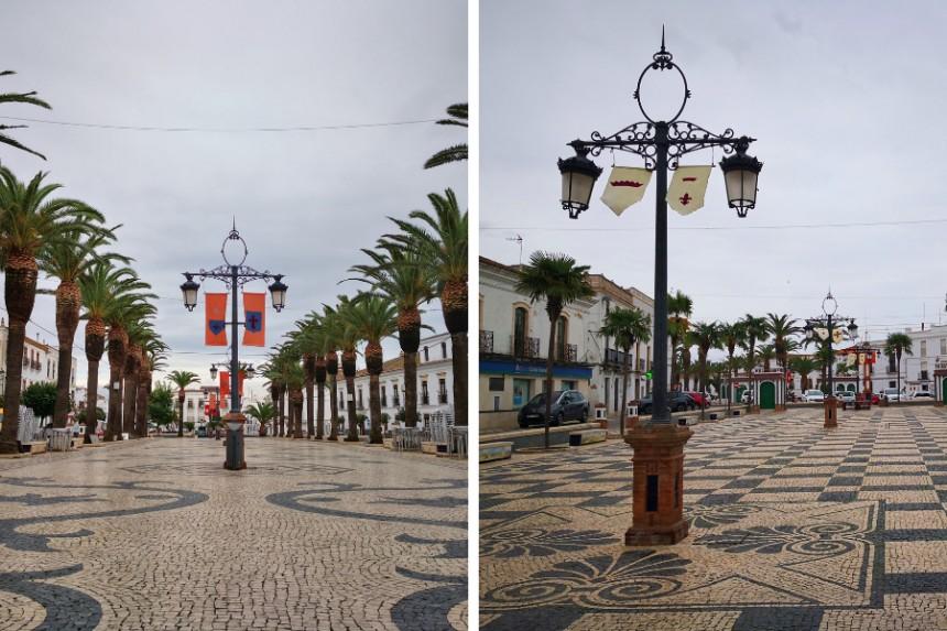 Plaza de Portugal y Plaza de España en Olivenza