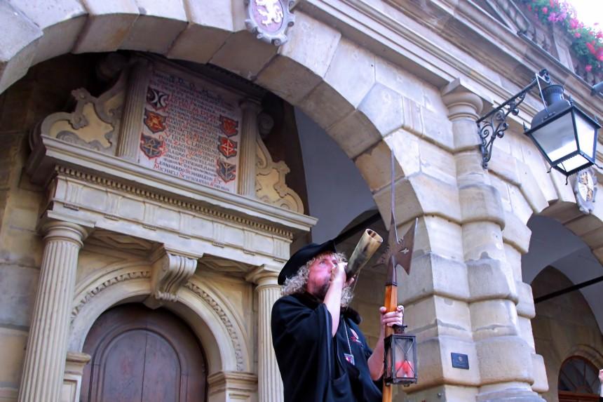 guardia nocturna en Rothenburg ob der Tauber
