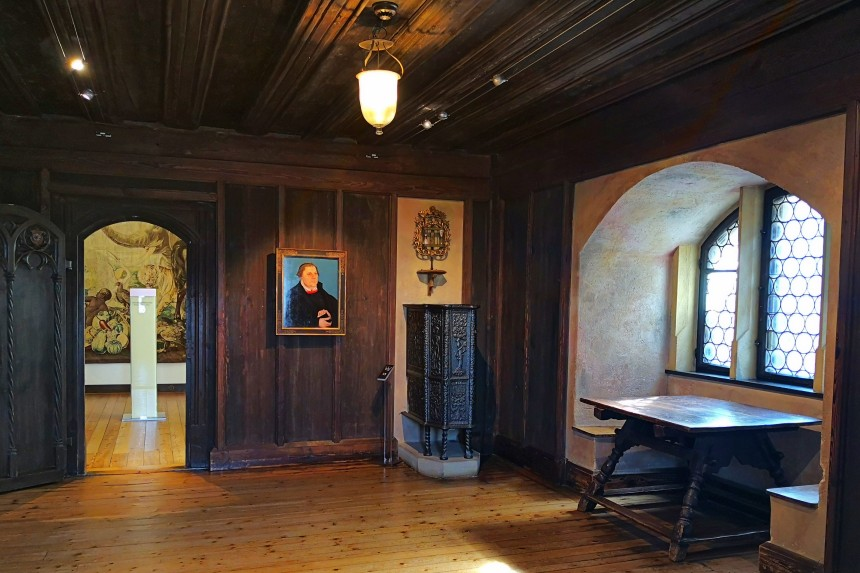 sala de Martín Lutero en el museo Veste Coburg