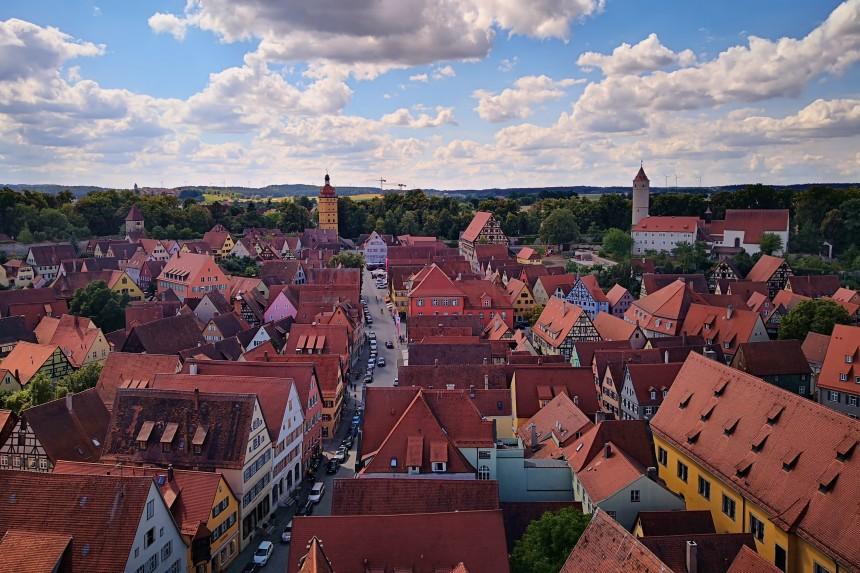 vista aérea de Dinkelsbühl