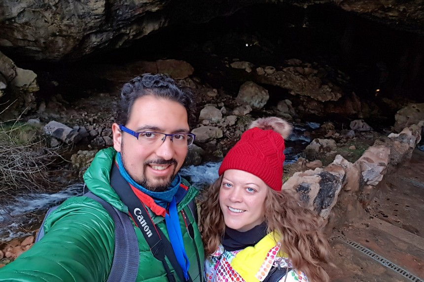 mapaymochila en la cueva de Valporquero
