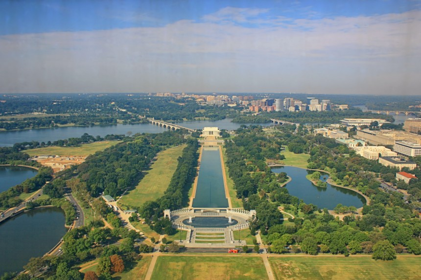 National Mall desde el monumento a Washington