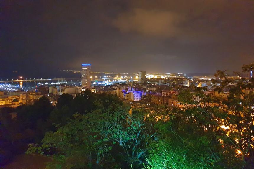 vistas de Alicante desde el restaurante La Ereta