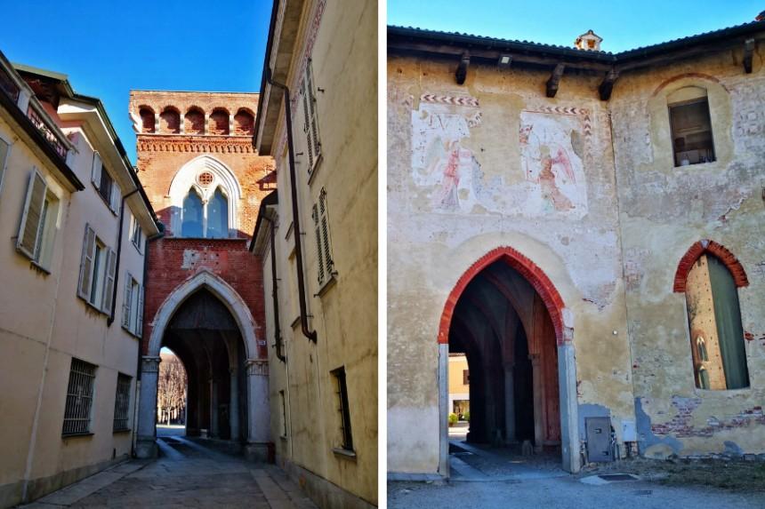 Acceso para discapacitados del Castillo de Vigevano