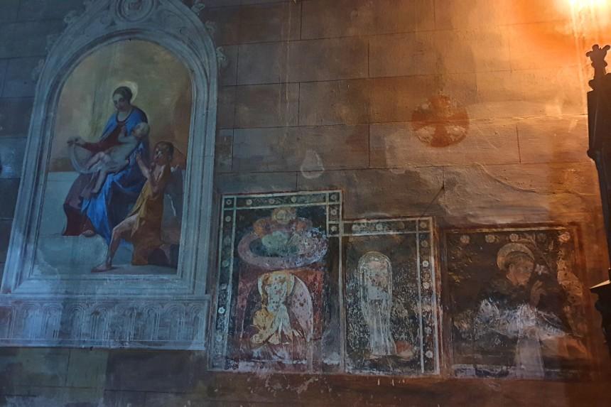 frescos de la iglesia de San Pedro Martir en Vigevano