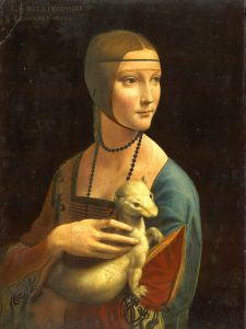 La dama de Armiño, cuadro de Leonardo Da Vinci