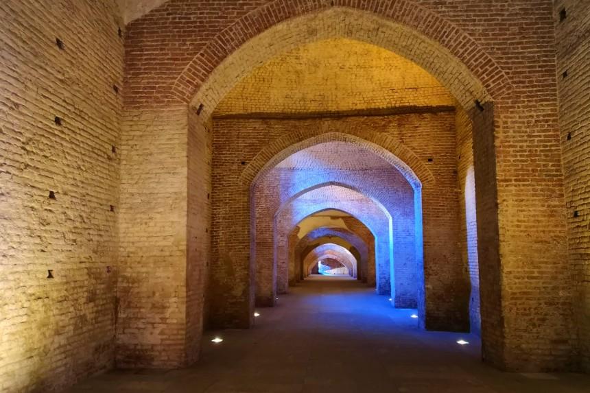 niveles subterráneos del Castillo de Vigevano