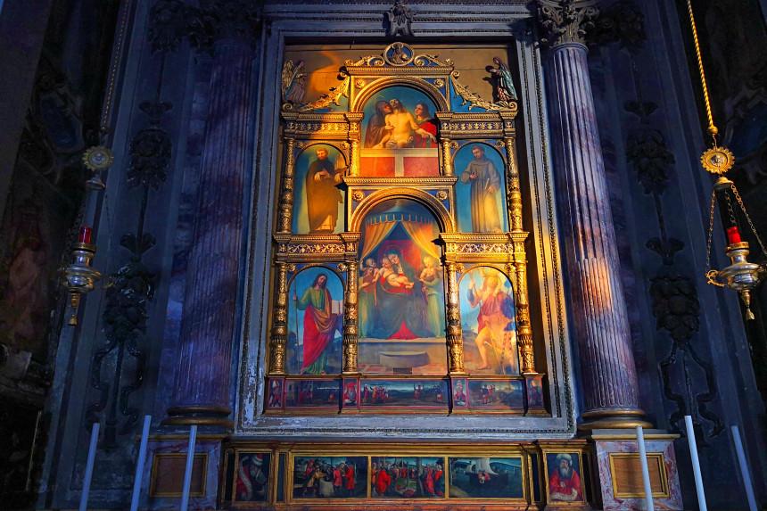 Políptico de la escuela de Leonardo en Vigevano
