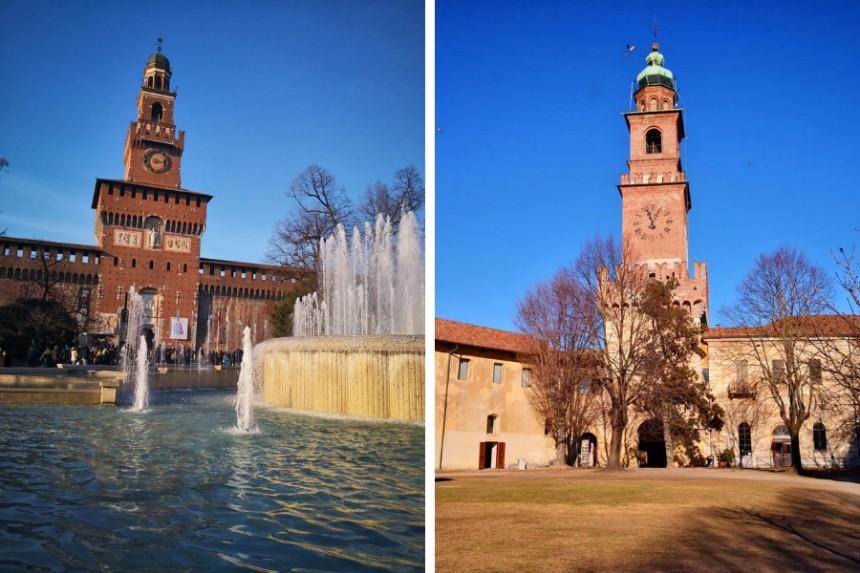 Torre del Filarete y Torre de Bramante