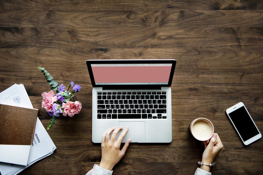 trabajando en un blog