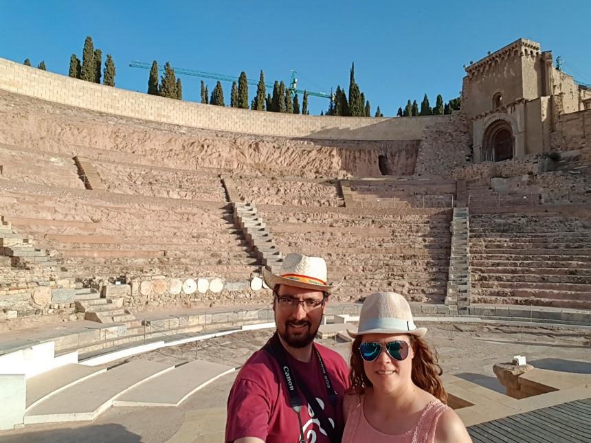 mapaymochila en el Teatro Romano de Cartagena