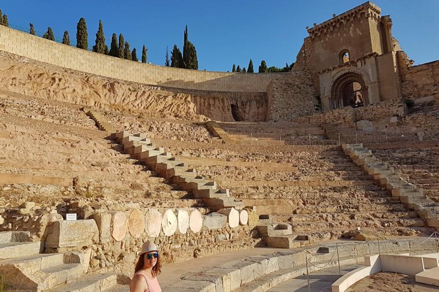 Ruinas de Santa María la Vieja sobre el Teatro Romano de Cartagena