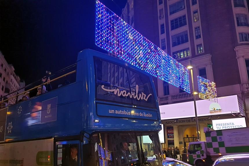 Naviluz, el bus de la Navidad 2019