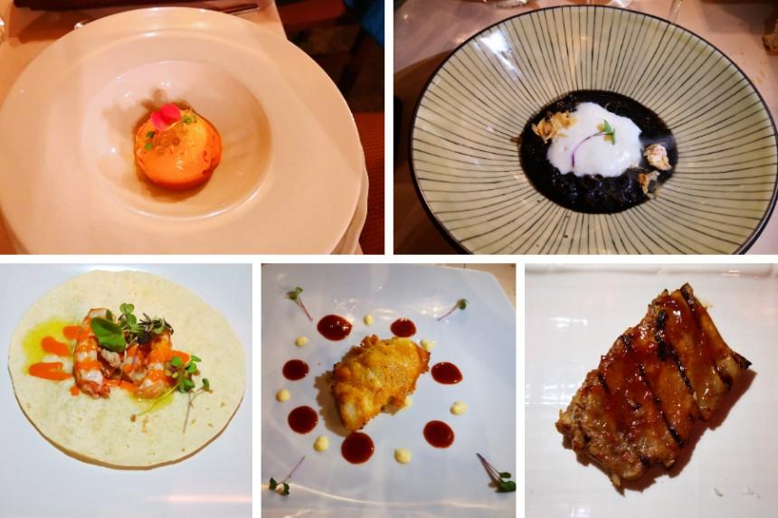 menu moderno del Restaurante Montecarlo
