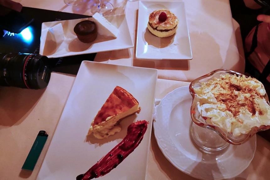 postres del Restaurante Montecarlo