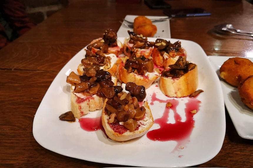 setas caramelizadas con queso del Flash Rock & Bar