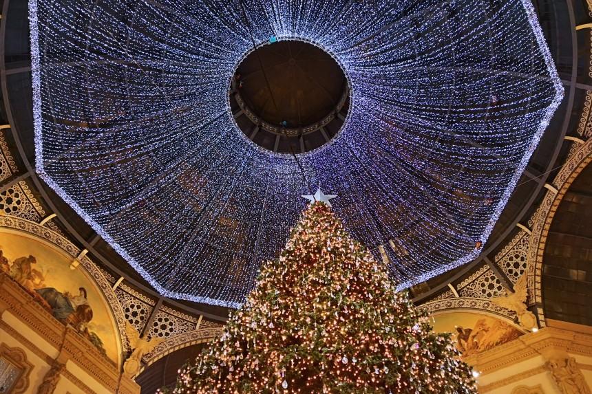 Galleria Vittorio Emanuele II en Navidad
