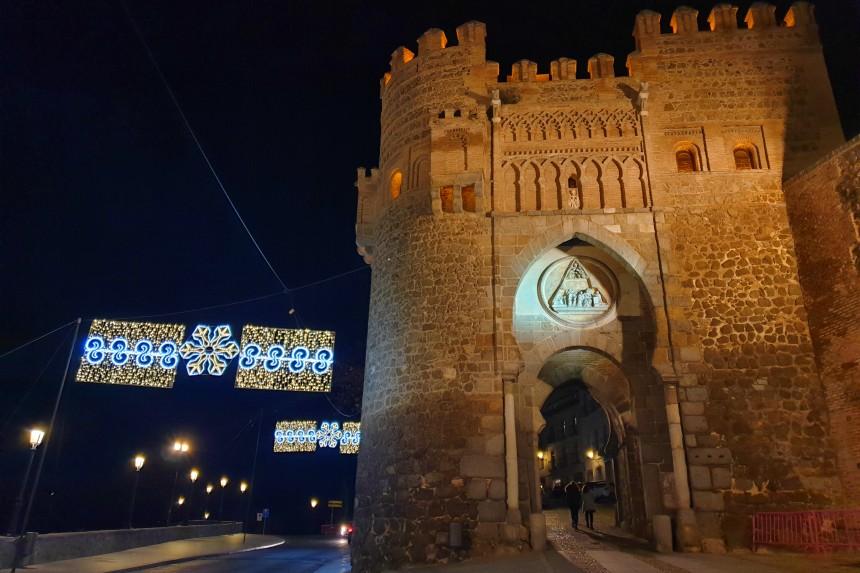 Puerta del Sol de Toledo en Navidad