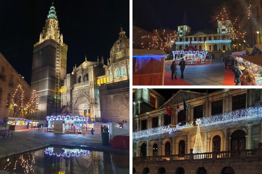 Tiovivo navideño tradicional en Toledo
