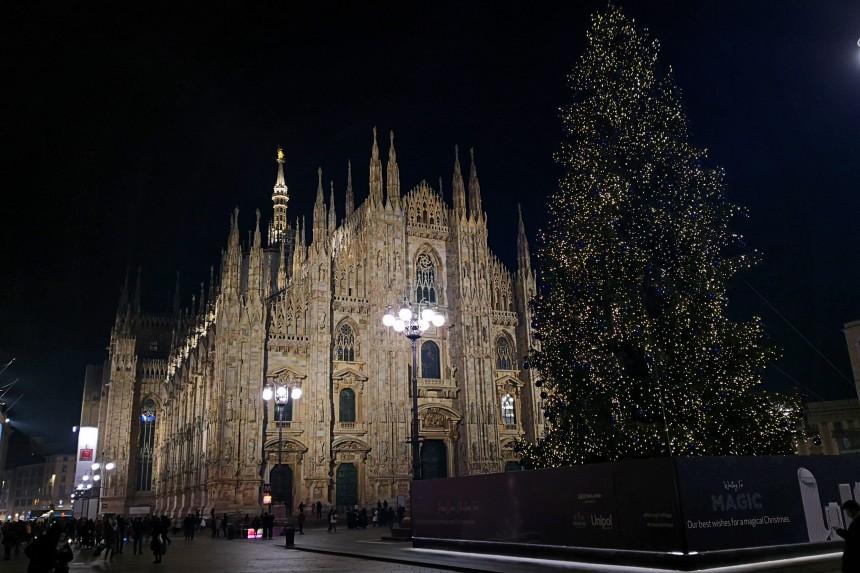 Il Duomo de Milán en Navidad