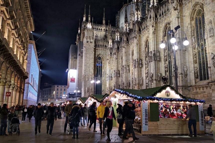 mercadillo navideño en Milán