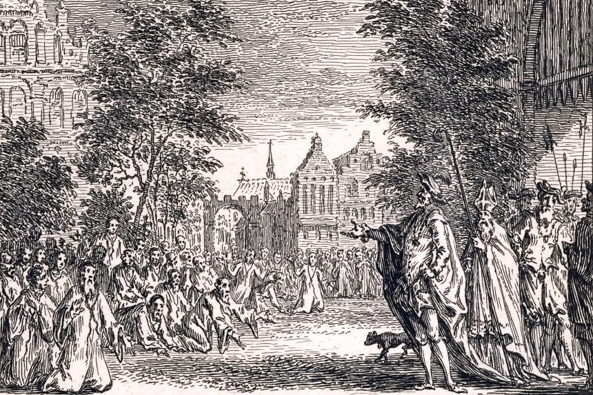 Carlos V castiga a los habitantes de Gante