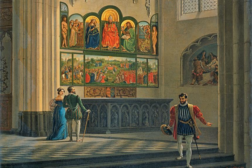 Pintura del Retablo de Gante del s. XIX