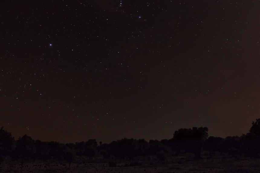 cielo estrellado de la Sierra de Ávila