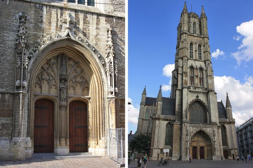 exterior de la Catedral de San Bavon