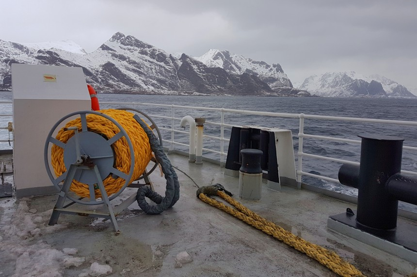 ferry de Bodø a Moskenes