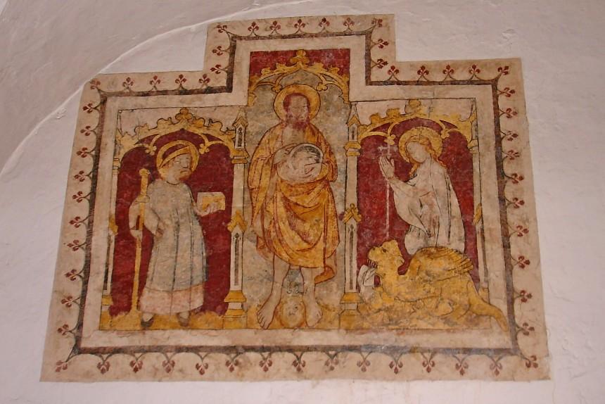 Fresco de la cripta de San Bavón en Gante
