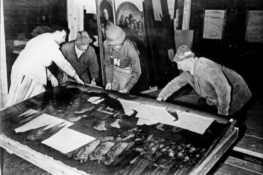 Recuperación del Políptico de Gante en la Segunda Guerra Mundial