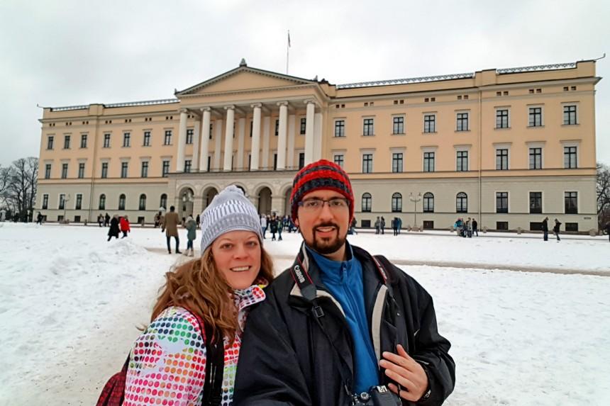 mapaymochila en Oslo nevado