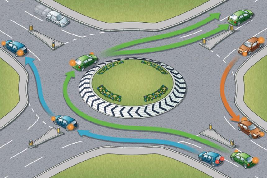 Regla 185 - Coger una rotonda en Escocia