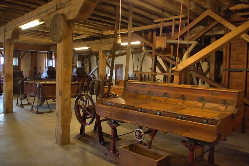 interior de la Fábrica de Harinas San Antonio