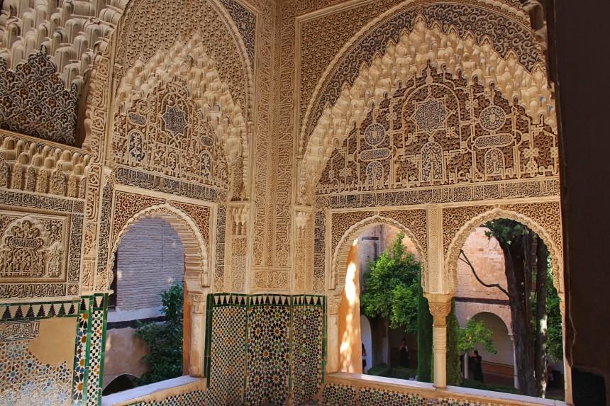 ventana de los palacios nazaríes