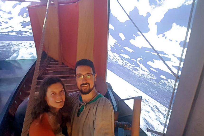 recreaciones en la galería de barcos vikingos