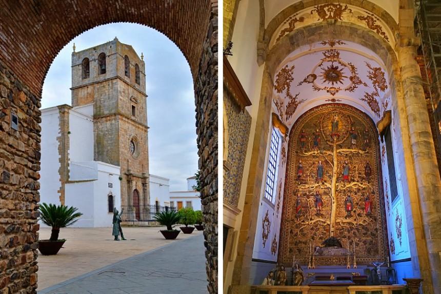"""Santa María del Castillo y retablo del """"Árbol de Jesé"""""""